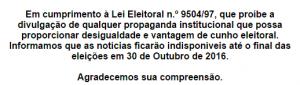 Portal de notícias e mídias sociais da Prefeitura param no período eleitoral